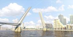London's first pedestrian and cycle bridge proposed for Canary Wharf. Read the full story on dezeen.com