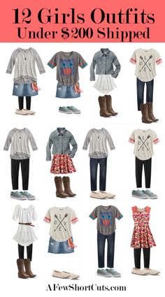 12 Girls Outfits for under $200 Shipped #fashion