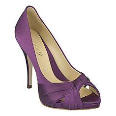 Purple Eggplant Bridal Shoes with Crystals Over 100 Color Shoe