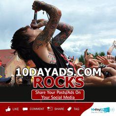 10dayads.com ROCKS #FreeAdvertisingSites #FreeOnlineAds