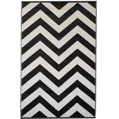 1ea587bcdd93 FAB HAB LAGUNA OUTDOOR RUG in Black & White Chevron | Easily transform your  outside space