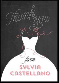 Bride thank you card - personalized Wedding Paper Divas