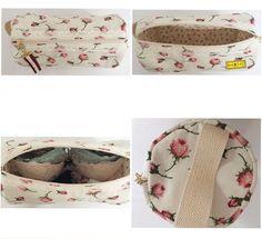 D I A • D A S • M Ã E S • 2 0 1 6  Porta Lingerie  Porta lingerie acolchoado feito de composê de tecidos de algodão florais, alça para mão, detalhe de renda branca, zíper com puxador de tecido.  Tamanho: 13cm de diâmetro / 30cm de comprimento.  Obs.: Lingeries não inclusas.