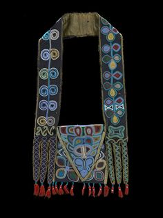 Muscogee (Creek) bandolier bag, ca. 1814 Alabama Wool fabric and tassels, silk fabric, dye, glass beads, cotton thread Photo by Earnest Amoroso #NMAI 24/4150 Exhibition open Sept 21!