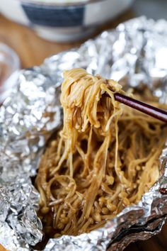 Foil Baked Enoki Mushrooms - エノキ焼き - Pickled Plum Food And Drinks , Foiled Baked Enoki Mushrooms (Vegan) - This delicious healthy Japanese recipe is pack with umami! Foil baked to perfection, these enoki mushrooms are . Vegan Japanese Food, Healthy Japanese Recipes, Easy Asian Recipes, Japanese Snacks, Mushroom Recipes, Veggie Recipes, Low Carb Recipes, Vegetarian Recipes, Cooking Recipes