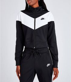 Women's nike sportswear heritage track jacket finish line Nike Outfits, Teen Fashion Outfits, Sporty Outfits, Swag Outfits, Trendy Fashion, Nike Sportswear, Jugend Mode Outfits, Clothing Items, Nike Women