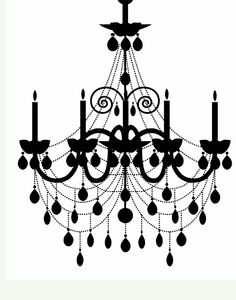 Doodle Craft...: Freebies Week: Chandelier Silhouettes! | painting ...