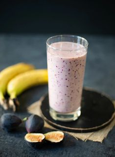 This Fig Banana Smoothie has a wonderful sweet creamy taste. Made with figs, ripe banana & milk, this smoothie is a nutritious breakfast or snack!