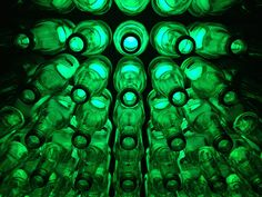 Very cool Heineken bottle wall. Very Lux!