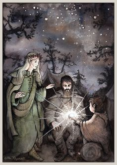 I really love Ulla Thynell's whimsical, and charming style - her view of MiddleEarth is endearing! § The Arkenstone by ullakko.deviantart.com on @deviantART