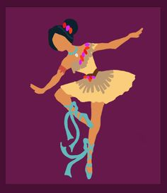 Lovely Illustrations Of Disney Princesses As Ballerinas - DesignTAXI.com