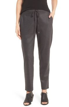 Eileen Fisher Heathered Stretch Flannel Twill Ankle Pants available at #Nordstrom