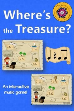 Fun interactive music game for your elementary music classes. They will be begging for this rhythm lesson with a pirate theme again!