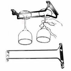 Perfect for our new wine bar we bought!!!, 10-Inch Long, Wine Glass Rack, Wire Hanging Rack, Wine Glass Hanging Rack, Wire Wine Glass Hanger Rack, Stemware Rack, Under Cabinet, Chrome Finish from Update International - CellarsOfWine.com - Like, repin & share - Thanks! #Wine