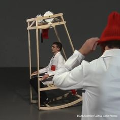 This Chair Lets You Knit A Hat Even If You Don't Know How To Knit