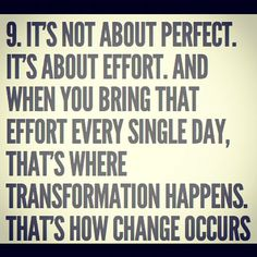 Love this. No one is perfect.... Everyone can give it their all.