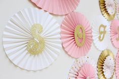 Pink and Gold Party Backdrop - Pink and Gold Baby Shower - Pink and Gold First Birthday - Pink and Gold Party - Princess Birthday Backdrop Princess First Birthday, Gold First Birthday, Baby Shower Princess, Princess Party Decorations, First Birthday Decorations, Birthday Backdrop, Baby Shower Images, Paper Rosettes, Gold Baby Showers