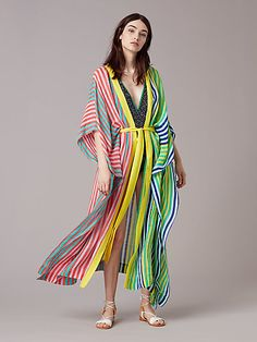 c752c1d2a5 Short-Sleeve Tie Front Cover-Up | Landing Pages by DVF Floor Length Dresses
