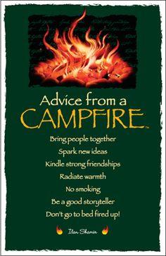 Advice from a Campfire Frameable Art Postcard. yourtruenature.com