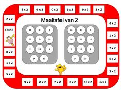 Maaltafel van 2 Bingo Multiplication Games, Multiplication And Division, School Teacher, Bingo, Classroom, Activities, Logos, Kids, Winter