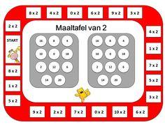 Maaltafel van 2 Bingo Multiplication Games, Multiplication And Division, School Teacher, Bingo, Classroom, Activities, Parenting, Kids, Winter