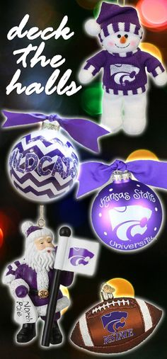 Decorate this season with Kansas State (K-State) Wildcats Holiday Ornaments! http://www.rallyhouse.com/ncaa-k-state-wildcats-christmas