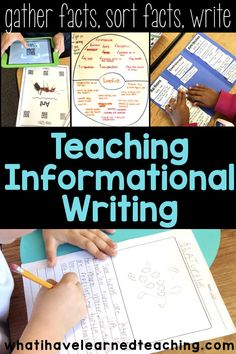 Informational Writing Overview How do you teach informational and expository writing in second grade? It's all about animals. We gather our facts, work with our facts, and then do our writing. This is the process we use to write about nonfiction topics. Expository Writing, Writing Topics, Informational Writing, Writing Lessons, Writing Resources, Teaching Writing, Writing Skills, Writing Activities, Nonfiction