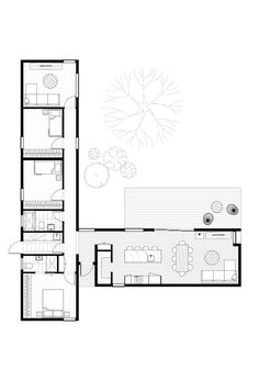 L Shaped House Plans, New House Plans, Small House Plans, House Floor Plans, Container Home Designs, Container House Plans, The Plan, How To Plan, Home Design Floor Plans