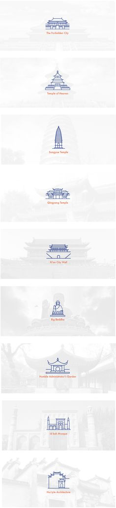 Free Icon | Ancient Architecture of China on Behance