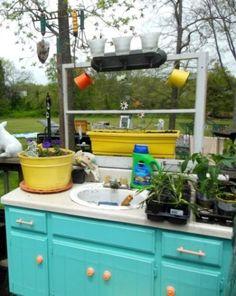Dressed Up Dressers In The Garden | Flea Market Gardening
