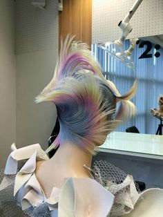 Peinados de pasarela, backstage