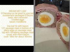 Breakfast loaf Slimming World Breakfast, My Slimming World, Slimming World Recipes, Sausage Recipes, Diet Recipes, Cooking Recipes, Recipies, Cumberland Sausage, Rezepte
