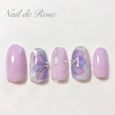 Korean Nail Art, Korean Nails, Pastel Nails, Purple Nails, Nail Art Designs Videos, Nail Designs, Japan Nail, Self Nail, May Nails