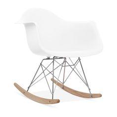 Charles E Rocking Chair de Style RAR Blanc