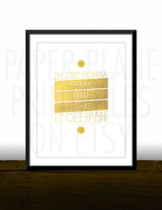 Shake It Off - Taylor Swift Song Lyrics [Printable Typography Art Poster] Digital Download Instant Print 8 x 10 by PaperPlanePrintables on Etsy