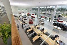 Fred Anderson Nissan of Fayetteville interior showroom 2