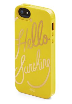 Gleeful Greeting iPhone 5/5S Case. Start your day on a sunny note by waking up to this yellow iPhone case from Rifle Paper Company! #yellow #modcloth