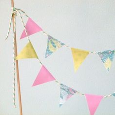 Tropical Punch paper cake bunting  £9.75