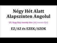 Könnyen, Gyorsan Angolul 1-106. nap - YouTube Nap, English Words, Youtube, Cards Against Humanity, Education, Onderwijs, Learning, Youtubers, Youtube Movies