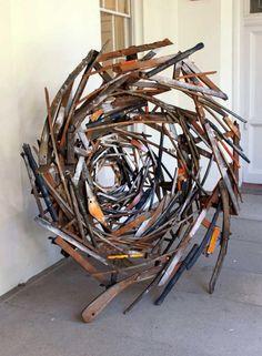Brian Rust-freestanding sculpture Ramshackle Nest