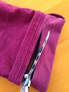 Truco para acortar un pantalón manteniendo el remate original | Aprender manualidades es facilisimo.com