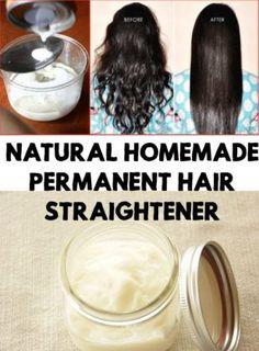 Natural Homemade Permanent Hair Straightener