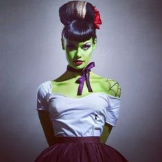 Halloween Makeup...love this rockabilly bride of frankenstein I think I can do it! He he he