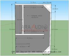 ARA AUDIO: Skema Box CBS 12 inch Rumahan 12 Inch Subwoofer Box, Speaker Plans, Speaker Box Design, Studio Setup, Car Audio, Bar Chart, Education, Subwoofer Box, Loudspeaker