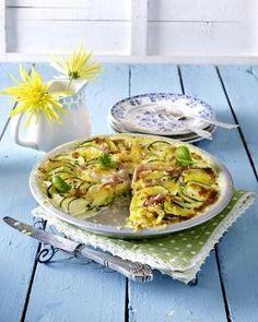 Zucchini-Kartoffel-Gratin mit Schinken