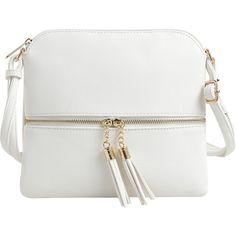 Women's Epic Chic MKII Sadie Tassel Crossbody (48 PEN) ❤ liked on Polyvore featuring bags, handbags, shoulder bags, white, cross body, tassel purse, crossbody purse, white handbag and cross-body handbag