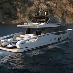 Sanlorenzo recently unveiled its new crossover motoryacht concept The new motoryacht features a semi-displacement grp hull and carbon fibre superstructure. Mini Yacht, Yacht Boat, Pontoon Boat, Yacht Design, Boat Design, Speed Boats, Power Boats, Yacht World, Boat Insurance