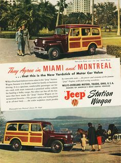 #Willys Overland#Jeep#vintage ad#woody