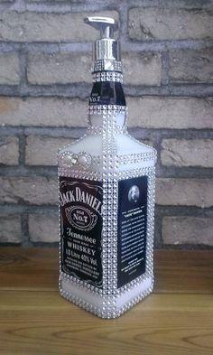 - Bottle Crafts - 80 Ways to Reuse Your Glass Bottle Ideas 29 80 Ways to Reuse Your Glass Bottle Ideas Alcohol Bottle Decorations, Alcohol Bottle Crafts, Glass Bottle Crafts, Alcohol Bottles, Liquor Bottles, Painted Glass Bottles, Whiskey Bottle Crafts, Wine Bottle Art, Diy Bottle