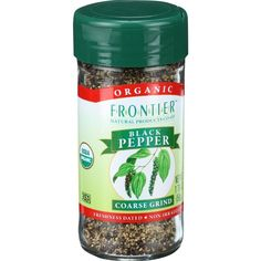 Frontier Herb Pepper - Organic - Black - Coarse Grind - 1.7 Oz